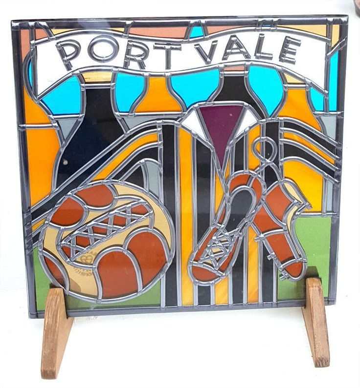 Port Vale Football Glass Gift