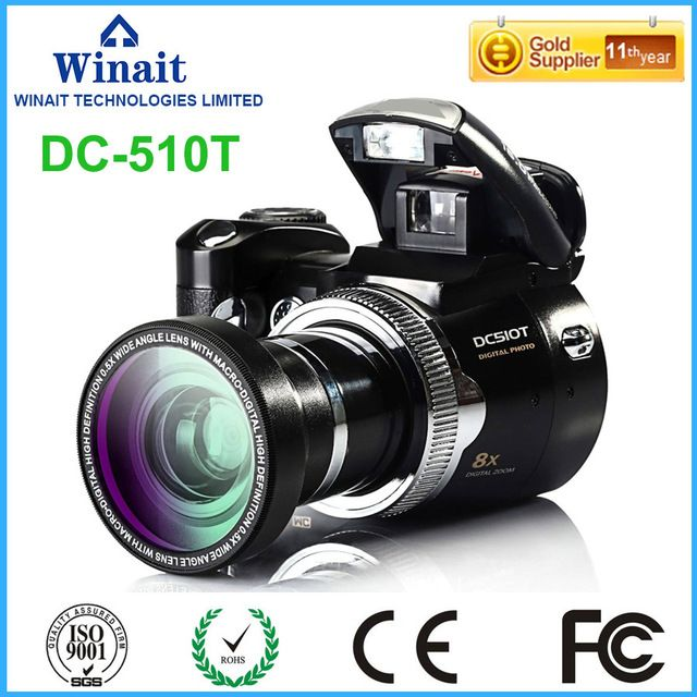 2017 newest Max 16MP digital camera camcorder with  8x digital zoom Rechargeable lithium battery dslr camera mini camera