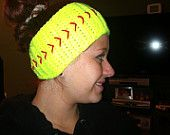 Crochet softball or baseball headwrap by Nstitches1978 on Etsy