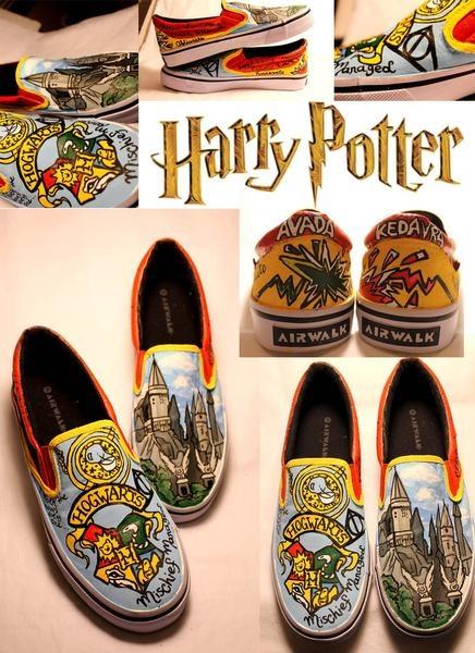Harry Potter Custom Canvas Shoes