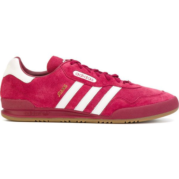 Adidas Originals Jeans Super sneakers (230 BGN) ❤ liked on Polyvore featuring men's fashion, men's shoes, men's sneakers, 80s mens shoes, mens pink sneakers, mens purple shoes, mens pink shoes and mens purple sneakers