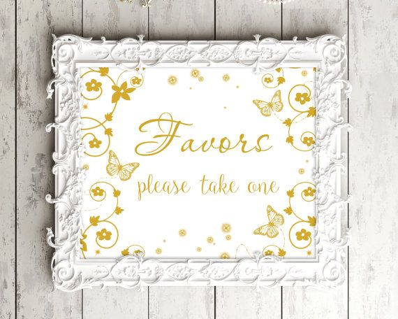 SALE 70% Printable Favors wedding sign. by PrintableMemoriesCo