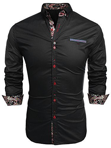 Coofandy Men's Fashion Slim Fit Dress Shirt Casual Shirt (Small, Black) - http://www.mansboss.com/coofandy-mens-fashion-slim-fit-dress-shirt-casual-shirt-small-black/?utm_source=PN&utm_medium=i+love+Cool+Gadgets&utm_campaign=SNAP%2Bfrom%2BMen%27s+Stuff