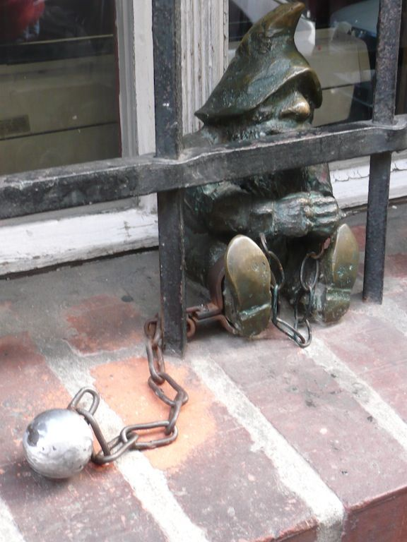 Gnome  in jail - Wroclaw, Poland