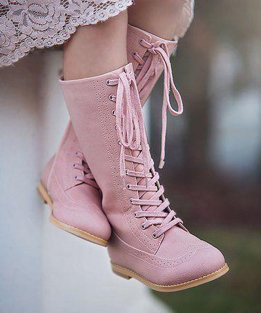 Look at this #zulilyfind! Pink St. Andrews Wingtip Boot - Toddler & Girls #zulilyfinds