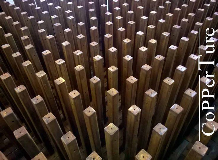 Paletti in acciaio Corten trattamento Corten ox 41 Small posts in Corten steel treatment  #corten #steelcorten #oxidation