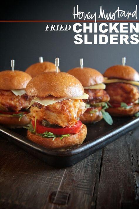 Honey Mustard Fried Chicken Sliders // shutterbean