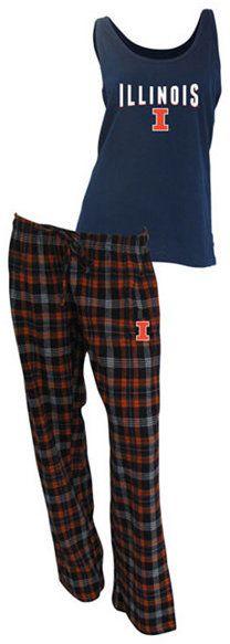 College Concepts Women's Illinois Fighting Illini Tank and Pajama Pants Set