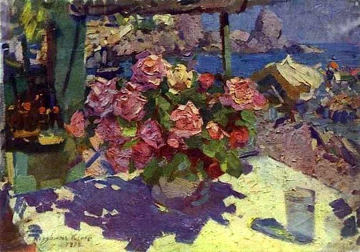Roses,1912 by Konstantin Korovin