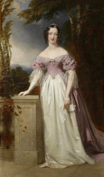 1840 Blanche Georgiana Howard (1812-40); posthumous portrait in the dress worn at the wedding of Queen Victoria and Prince Albert by John Lu...