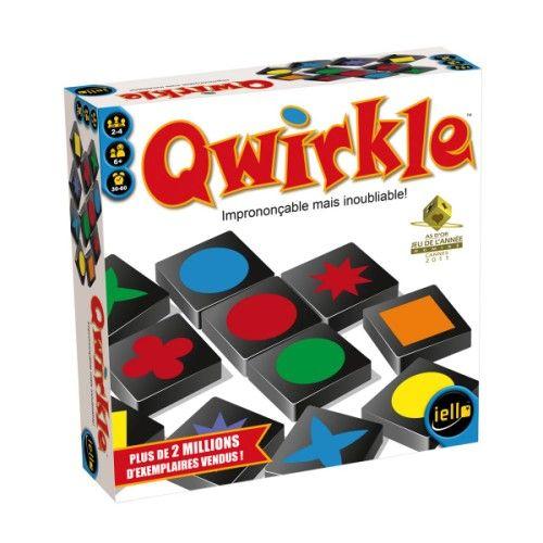 Quelques secondes suffisent pour apprendre à jouer à Qwirkle ! Chaque joueur essaye de marquer le maximum de points en constituant des lignes de formes ou de couleurs identiques. Mais si les règles sont simples, la victoire passe par une audace tactique et une stratégie bien élaborée. Qwirkle se compose de 108 tuiles en bois avec 6 formes et 6 couleurs différentes.