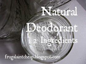 Natural deodorant cornstarch baking soda, may add favorite doterra oils - on guard, purity, etc.