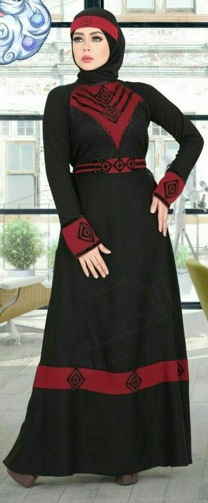 Dubai Kaftan Black Abaya Jalabiya Dress New Very Fancy Silk Wedding-Caftan hijab | Clothing, Shoes & Accessories, Women's Clothing, Dresses | eBay!