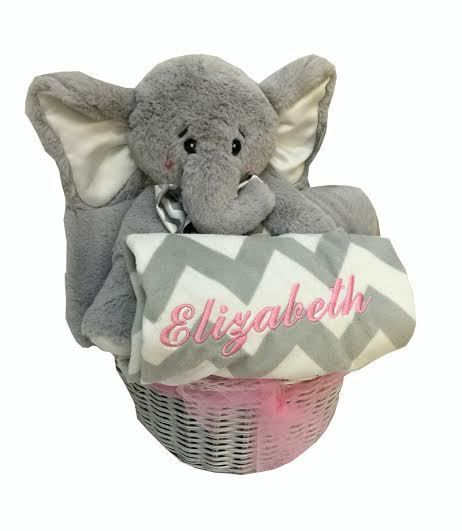71 best baby gift baskets images on pinterest baby gift baskets personalized gray baby gift basket lots of luck gift basket negle Image collections