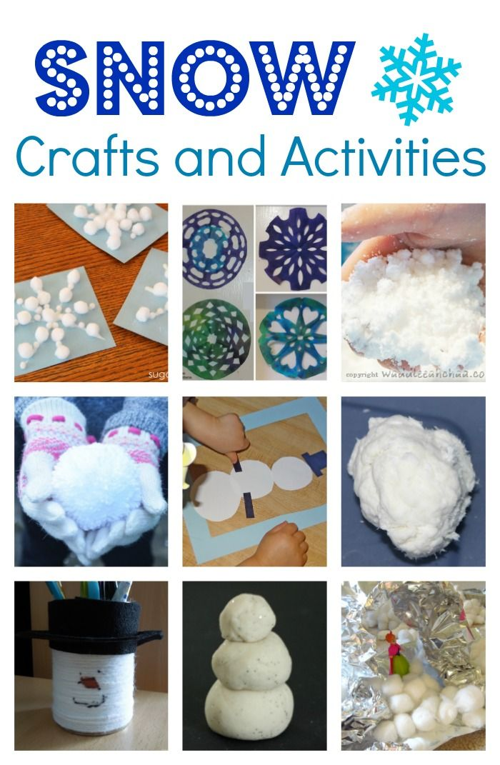 We don't get snow at our house so are always on the lookout for fun snow crafts and kids activities! We love making snowmen out of our sparkly white play dough and playing with our squishy sensory snow and last week even did a shaving cream snowball big art activity!