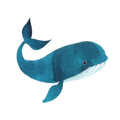 Happy Whale Art Print    Oana Befort