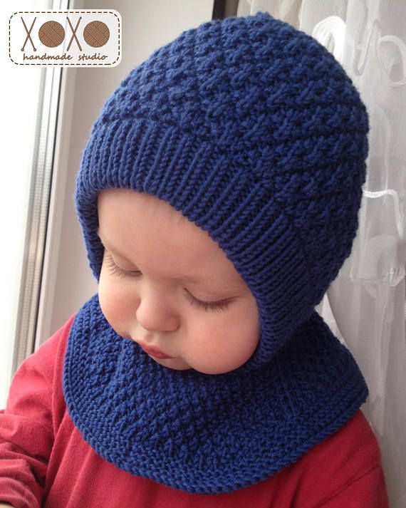 Balaclava 100/% MERINO WOOL baby children knitted hat scarf neck warmer winter