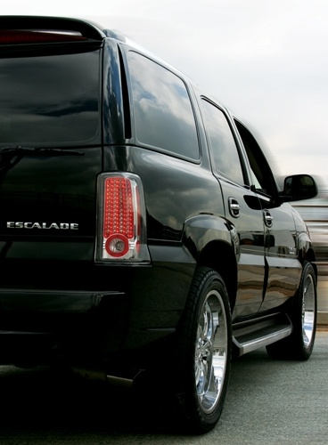 02 06 cadillac escalade escalade esv crystal clear led tail lights. Black Bedroom Furniture Sets. Home Design Ideas