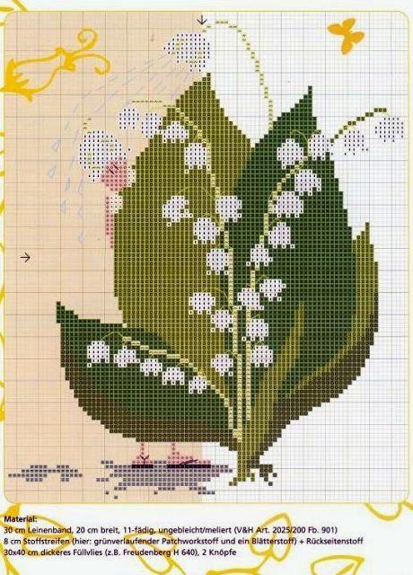 """Милые сердцу штучки: В ожидании весны: """"Ландыши"""" (коллекция схем)"""