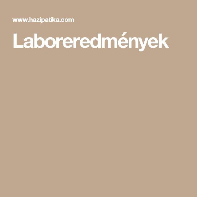 Laboreredmények