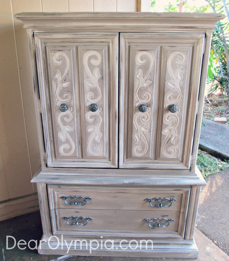 Le grande lady french country armoire in young kansas for Cece caldwell kitchen cabinets