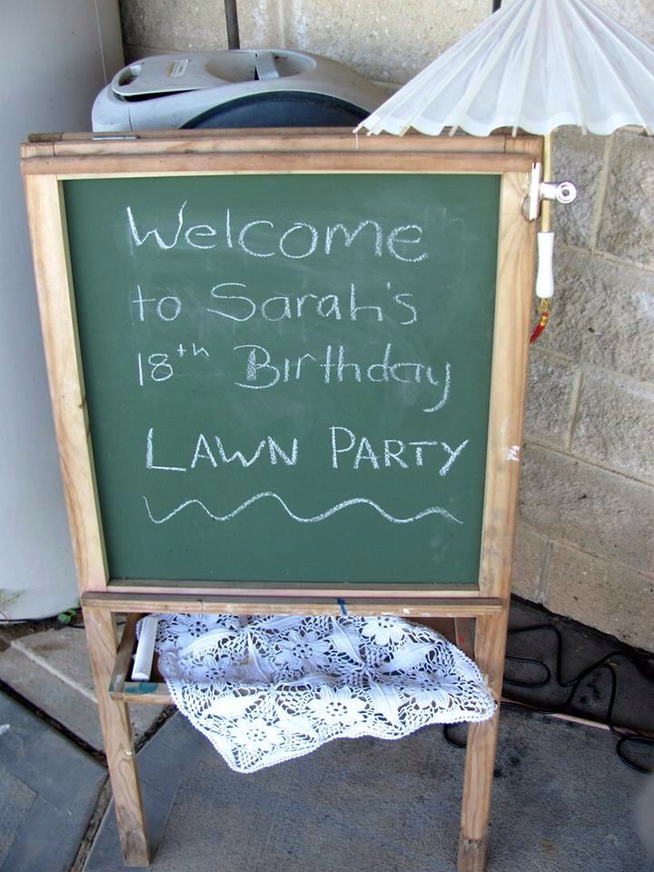 My 18th Birthday Lawn Party