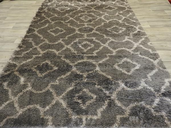 Super Soft Patterned Shaggy Turkish Rug Size: 200 x 290cm