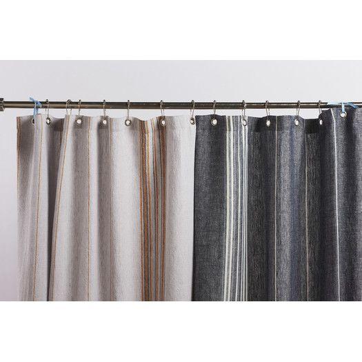 Coyuchi Rustic Linen Shower Curtain