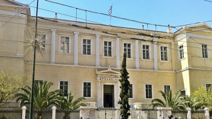 The old Arsakeio Girl's School building now houses a high court. (Walking Athens, Route 01 - University Str.)