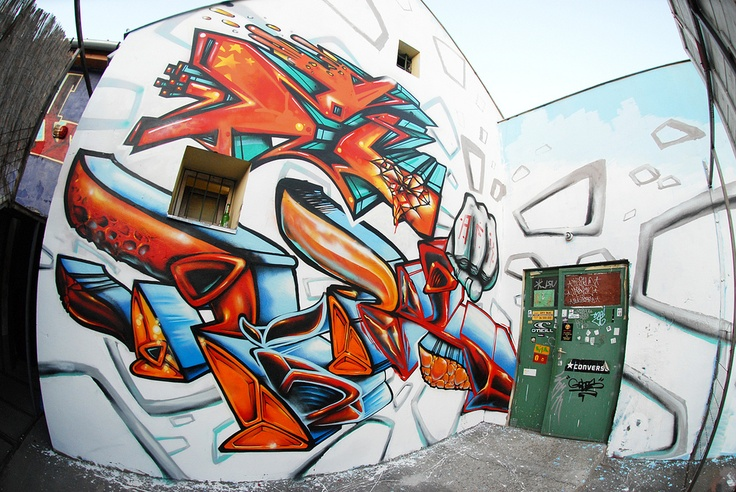 Kast X Fork 2010, Hungary #graffiti #legal #jam #spraycan #ironlak #kast #kest #fork #afx #apocalypse #fanatix
