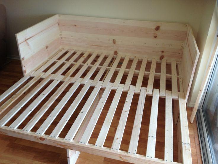 pull out sofa bed building ideas diy sofa bed sofa rh pinterest com