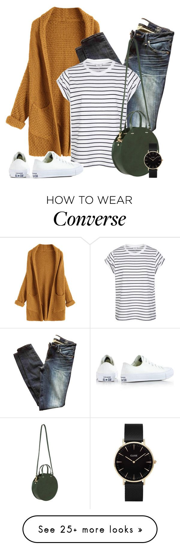 """Casual with a dash of classy"" by kingsamuel on Polyvore featuring Marc by Marc Jacobs, Clare V., CLUSE and Converse"