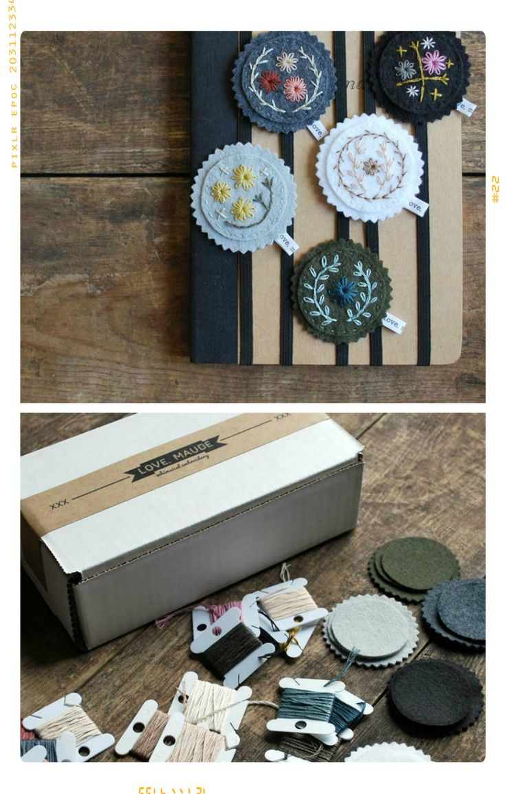 Floral Embroidery Bookmarks DIY Kit
