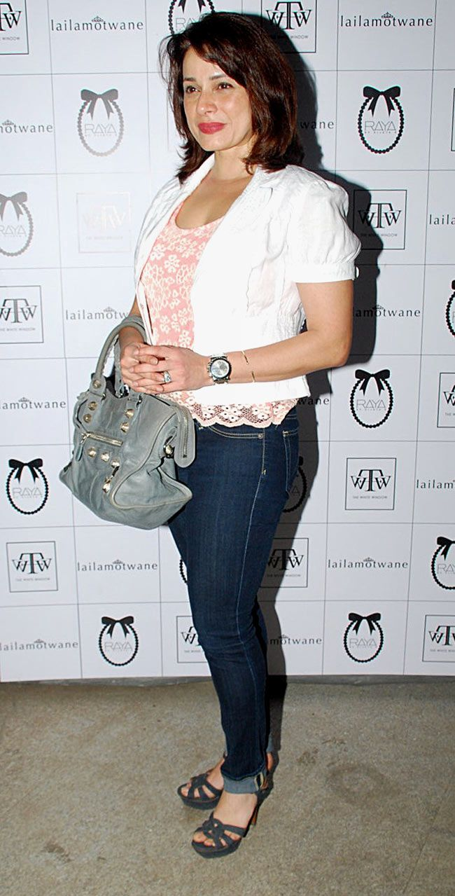 Neelam Kothari at a store launch. #Bollywood #Fashion #Style #Beauty #Page3