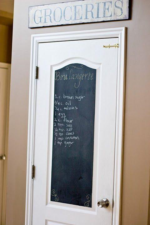 Best 25 chalkboard pantry doors ideas on pinterest for Chalk paint door