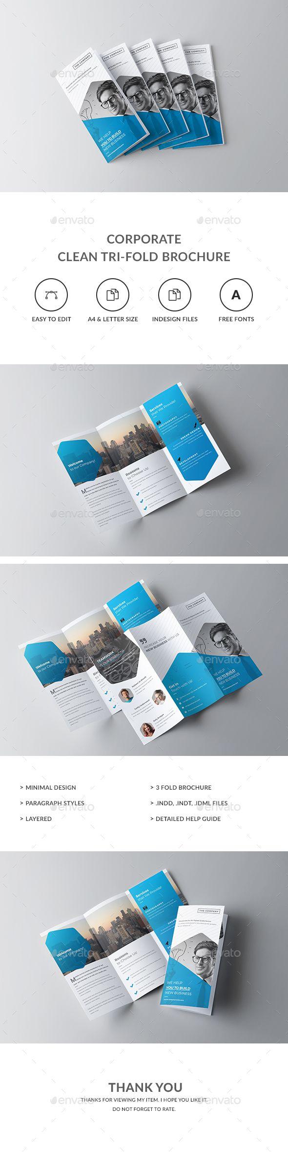Tri-fold Brochure Template InDesign INDD