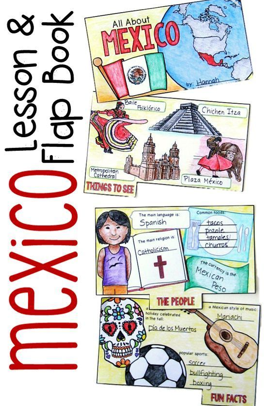 Mexico, PowerPoint slides and flap book, teach your students about the culture of Mexico with this fun activity ($)