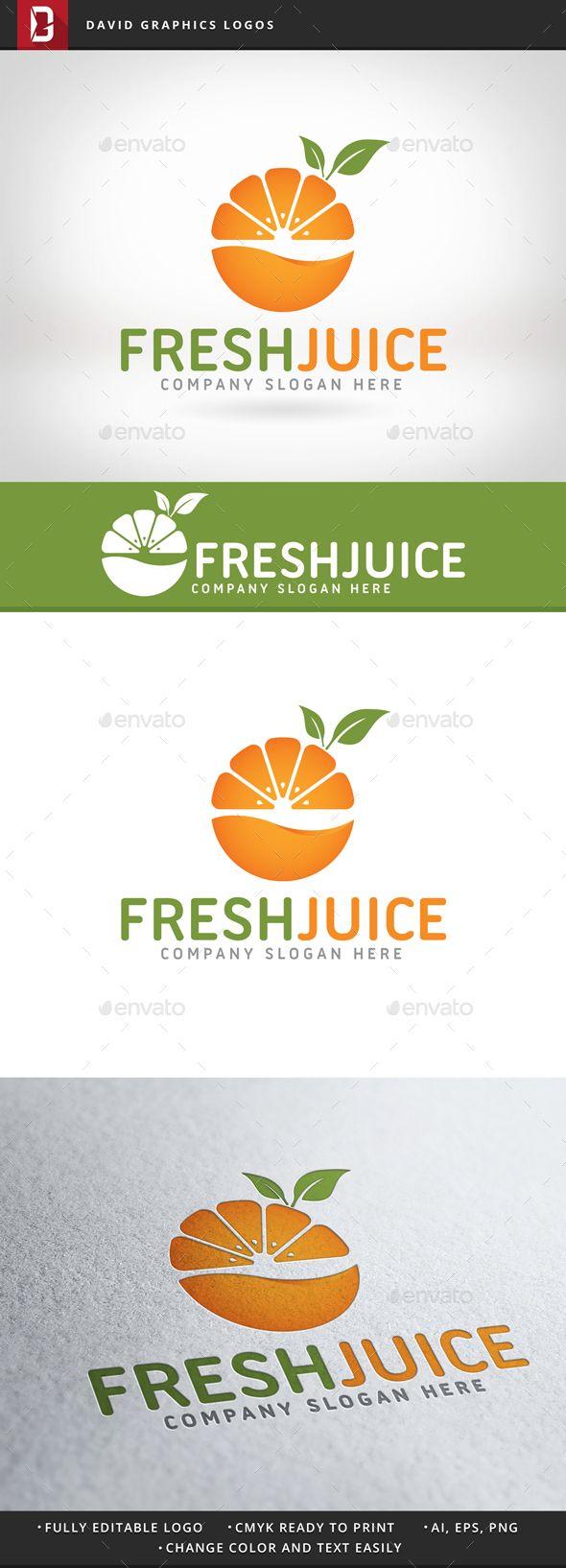 Fresh Juice Logo - Nature Logo Templates                                                                                                                                                                                 More