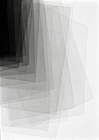 Joachim Bandau, 30-1-2012/4-9-2011, 2012, watercolour on paper, 39 x 27 inches