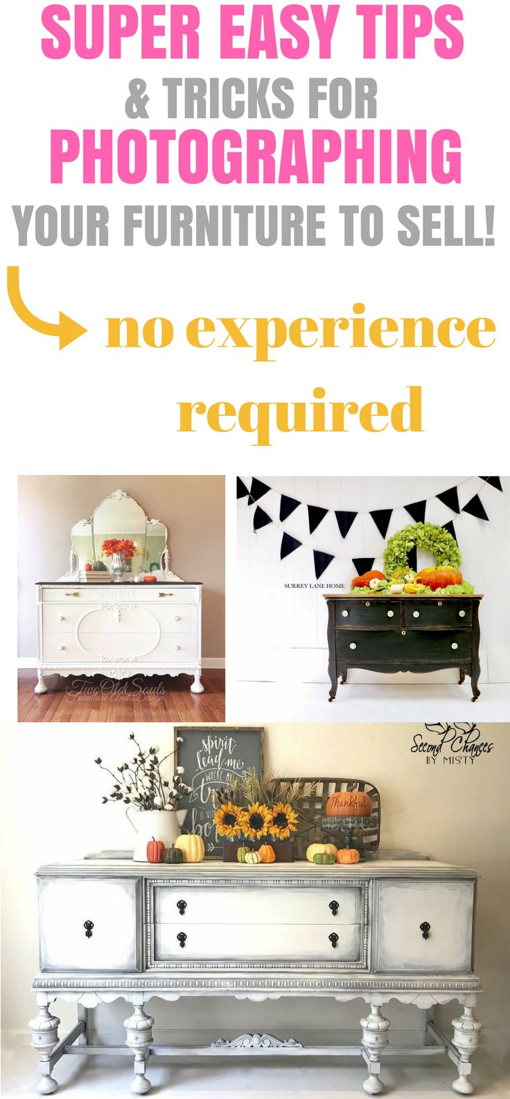 These AMAZING ways to Stage and SELL furniture in the Fall are PERFECT!! The pic...