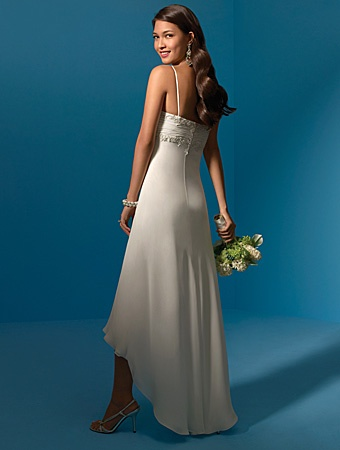 Wedding Dresses Pictures - Sheath / Column Sweetheart Empire Non-Strapless Spaghetti Strap Chiffon Wedding Dress - Style WD3591