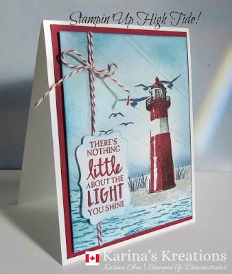 Karina's Kreations: Stampin'Up High Tide Card!