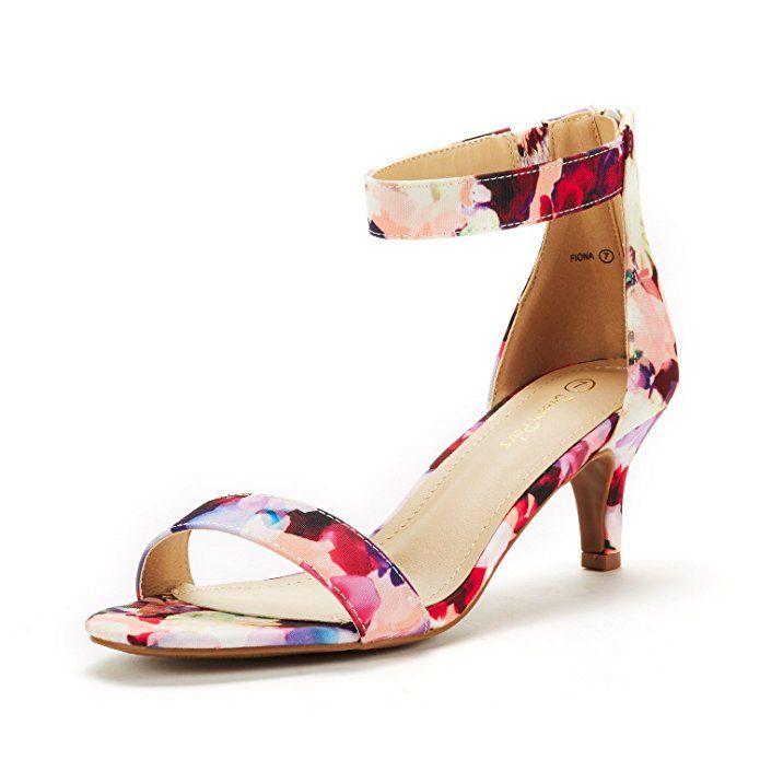 da82b5c5d34 DREAM PAIRS Women s Fiona Floral Fashion Stilettos Open Toe Pump Heeled  Sandals