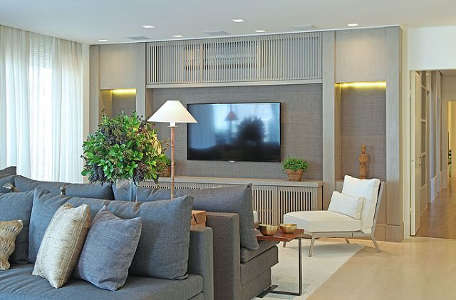 Móveis com madeira ripada para esconder ar condicionado e eletrônicos! - Decor Salteado - Blog de Decoração e Arquitetura