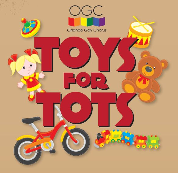 Toys for Tots logo for Orlando Gay Chorus.