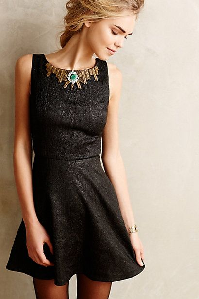 Necklaced Mini Dress #anthroregistry
