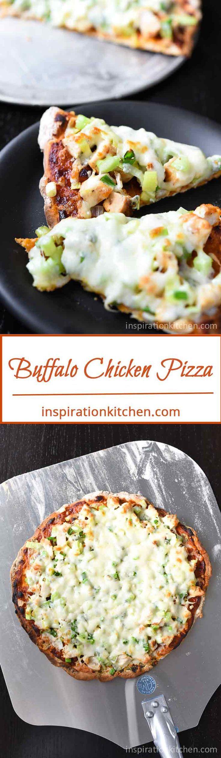 Buffalo Chicken Pizza | Inspiration Kitchen  #pizza #buffalochicken #recipe