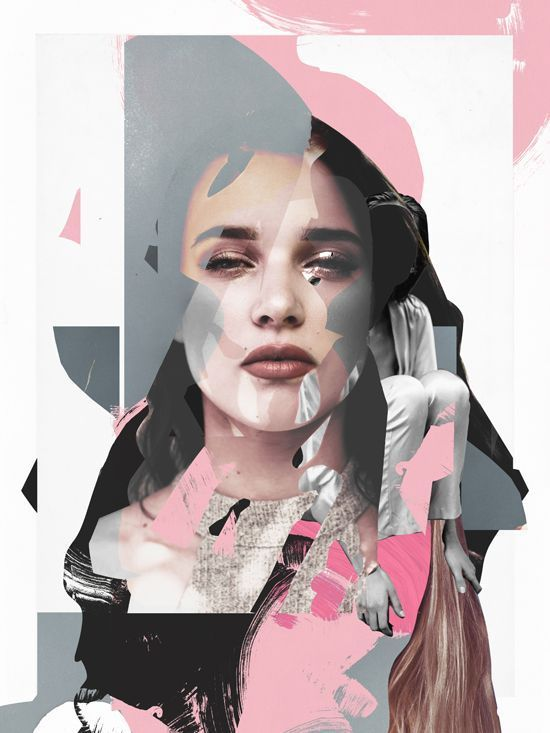 collage and paint, Raphael Vicenzi