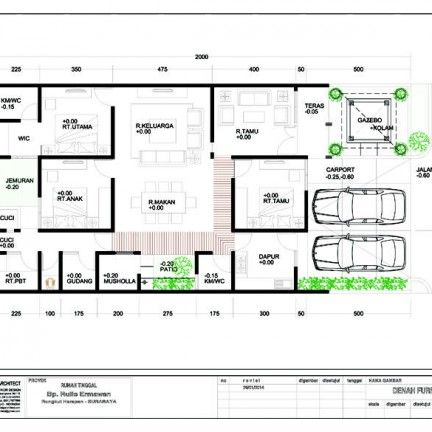 rumah modern minimalis_denah