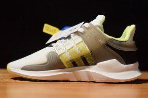 7cc2a077eb77 Womens adidas EQT Support ADV White Grey Five Semi Frozen Yellow CQ2255  Running Shoes